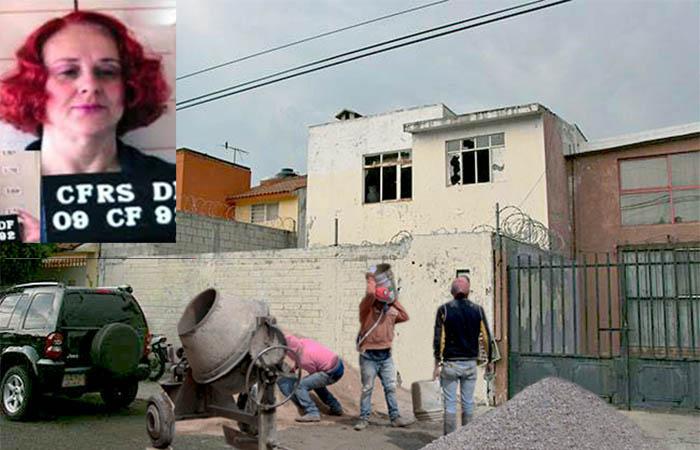 """Inicia remodelación de la """"casa mijangos"""" para que claudia mijangos se regrese a vivir tras salir de prisión"""