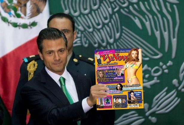 Epn anuncia que la revista tvynovelas ser el nuevo for Chismes del espectaculo en mexico