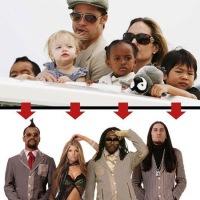 """Revelan que Pitt y Jolie se separaron por diferencias para manejar la carrera de musical de sus hijos los """"Black Eyed Peas"""""""