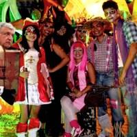 AMLO gana el segundo lugar del concurso nacional de disfraces de Halloween
