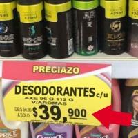 Super tiende trampa y obliga a hombre que compró tele a $10 pesos a pagar un desodorante a $39 mil